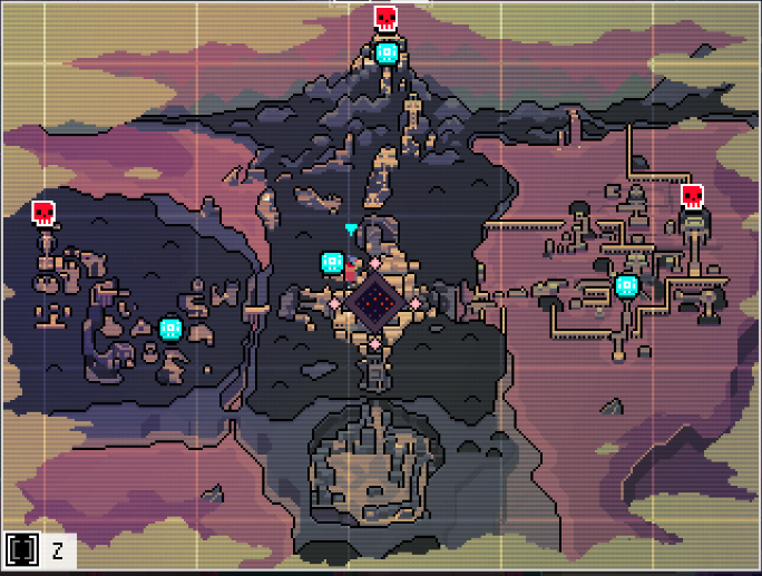 Hyper Light Drifter Mapa