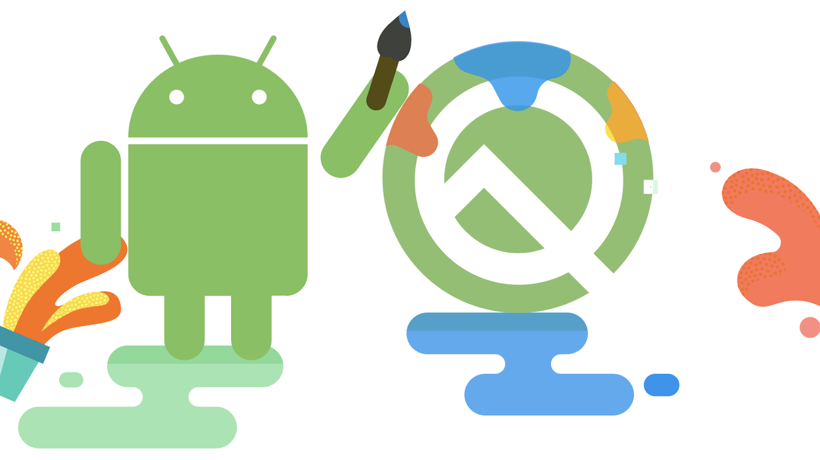 Logotip d'Android Q